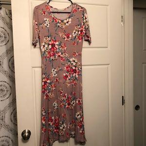 Shop Stevie Pink Floral Dress (Bodycon) Size M